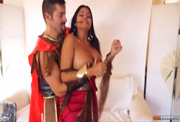 Roman Solider From Asterix And Obelix Bangs A Busty Brunette